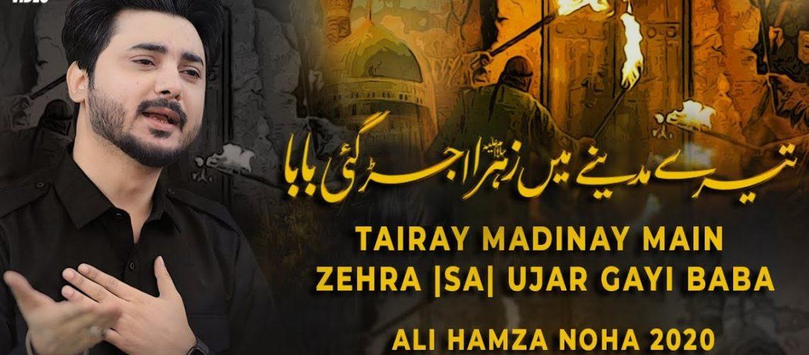 Ali Hamza | Tere Madine Main Baba | New Noha 2020