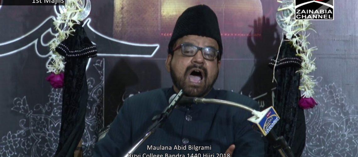 Maulana Abid Bilgrami Rizvi 2018 Majlises
